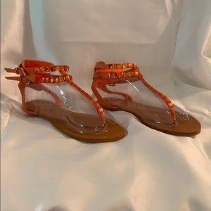 Bamboo EUC jeweled gladiator sandals